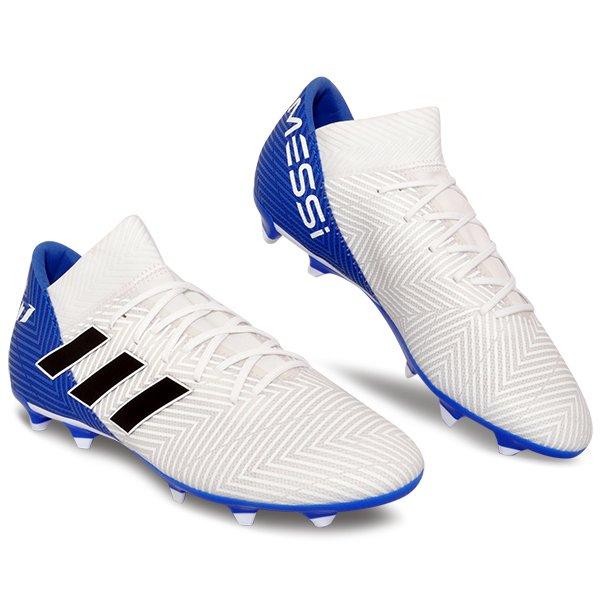 d633dbcb1db5 Chuteira Campo Adidas Nemeziz Messi 18.3 DB2111 Branco Preto