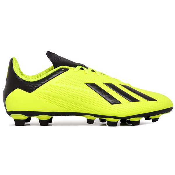 Chuteira Campo Adidas X 18.4 DB2188 Amarelo Preto Branco 6829f0c4de18b
