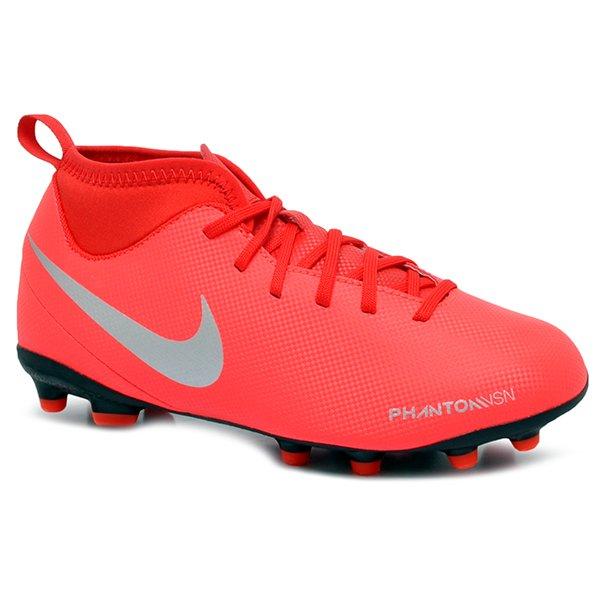 dbf04cb3c6 Chuteira Campo Infantil Nike Phantom VSN CLUB DF AO3288-600 Vermelho Cinza