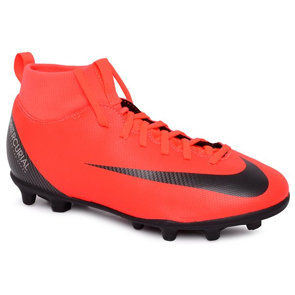 64a575c099 Chuteira Campo Infantil Nike Superfly Cr7 Rosa Fluorescente