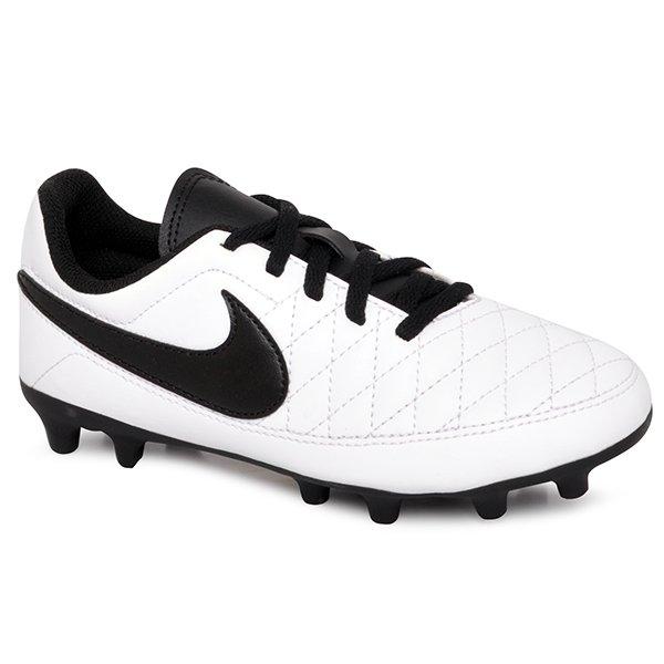 Chuteira Campo Masculina Nike Majestry AQ7897-107 Branco Preto ... f150ce351ecca