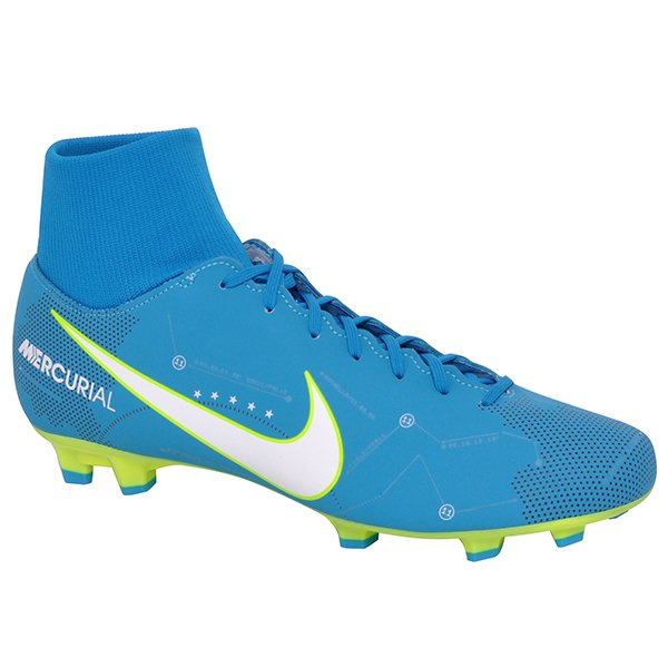 9c77ce0dc7 Chuteira Campo Nike Mercurial Victory 6 921506-400 Azul Branco