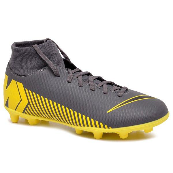 de89913639 Chuteira Campo Nike Superfly 6 Club AH7363-070 Cinza Preto Amarelo