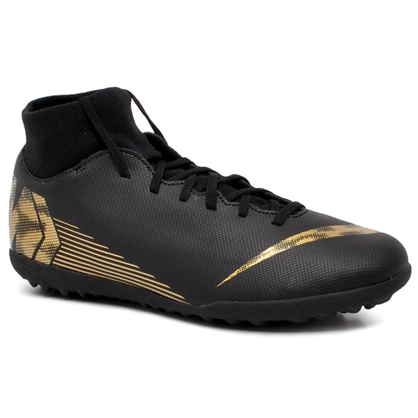 98bcf3bd5c Chuteira Society Nike Superfly 6 Club AH7372-077 Preto Dourado