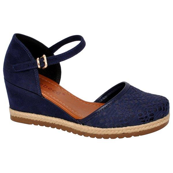 b55115d260 Sapato Anabela Bebecê 5814-593 Azul Marinho 5814-593 - Azul Marinho ...