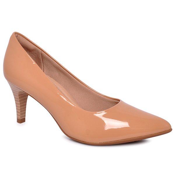 e418e307f Sapato Bico Fino Piccadilly 745035 Nude