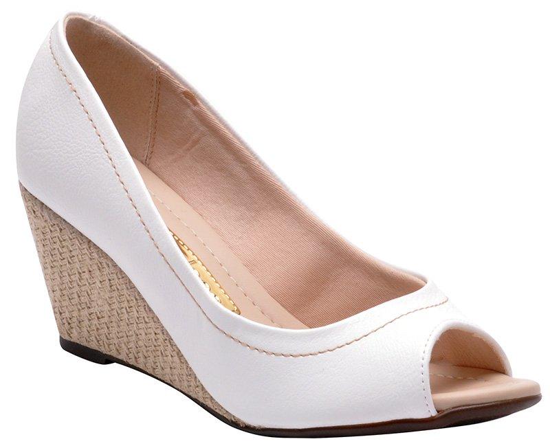 022608687 Sapato Feminino Moleca 5270526 Branco