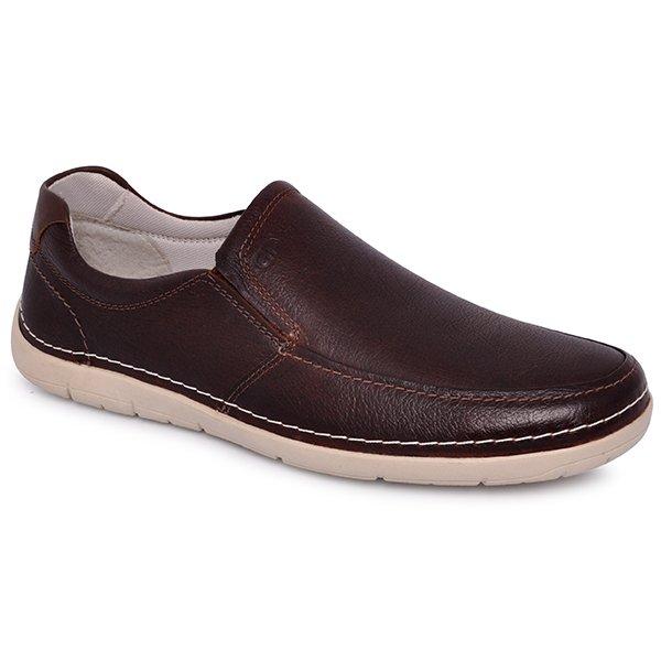 7afcefd13 Sapato Masculino Democrata 175101-002 Mouro Tabaco