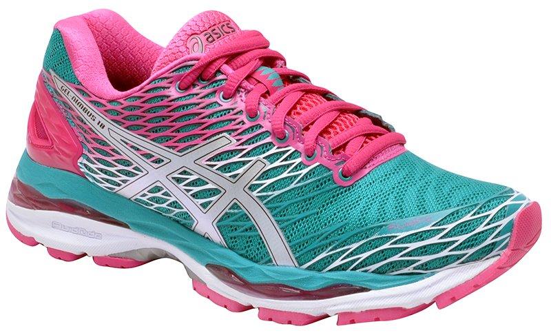96e1c1637c Tênis Feminino Asics Gel-Nimbus 18 Lapis Silver Pink
