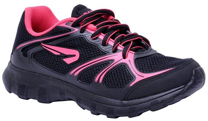 81e703b2eb Tênis Feminino Rainha Ready Preto Pink