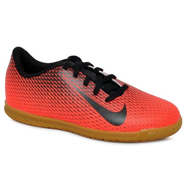 123f20be34695 Tênis Futsal Infantil Nike Bravatax 2 844438-601 Vermelho Preto