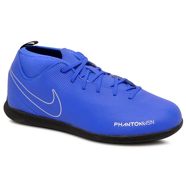fe2b6e2be1 Tênis Futsal Infantil Nike Phantom VSN Club AO3293-400 Azul Marinho Cinza