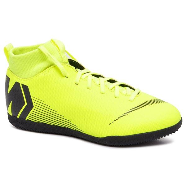 9b29639ff4980 Tênis Futsal Infantil Nike Superfly 6 Club AH7346-701 Amarelo Neon/Preto