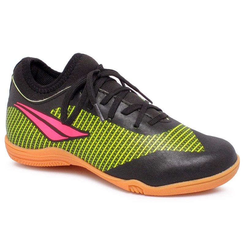 f17191edbbda4 Tênis Futsal Infantil Penalty Max 200 Locker IX 1261869767  Preto/Amarelo/Pink