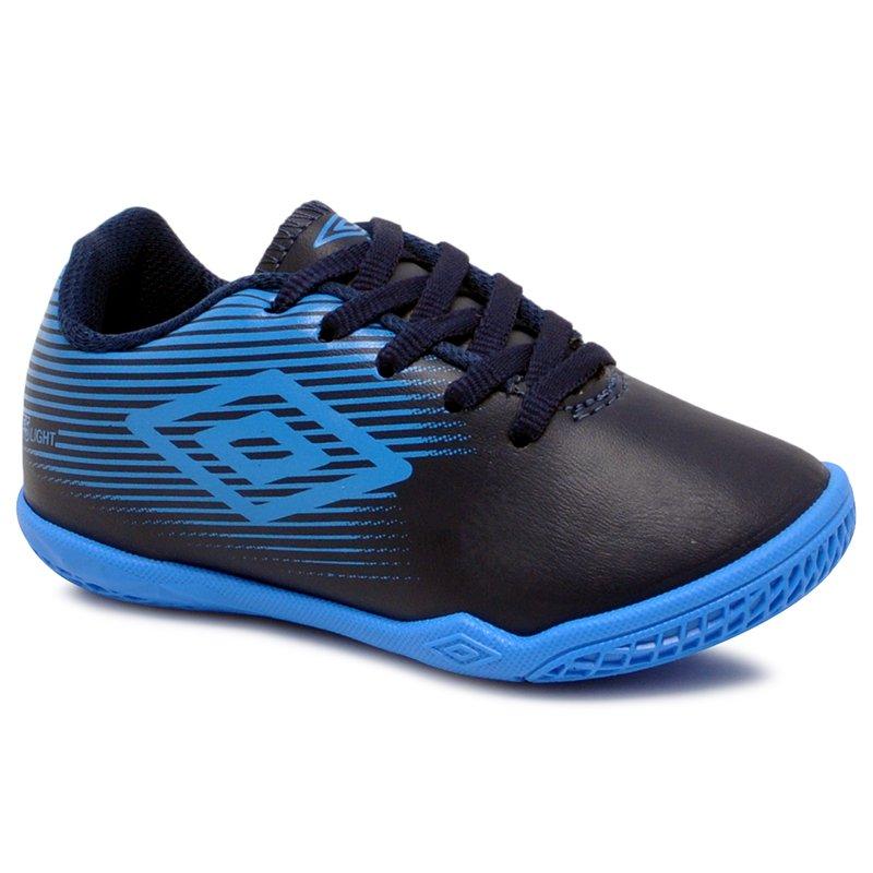 b43a03d421 Tênis Futsal Infantil Umbro F5 Light OF82058 Azul Marinho Azul