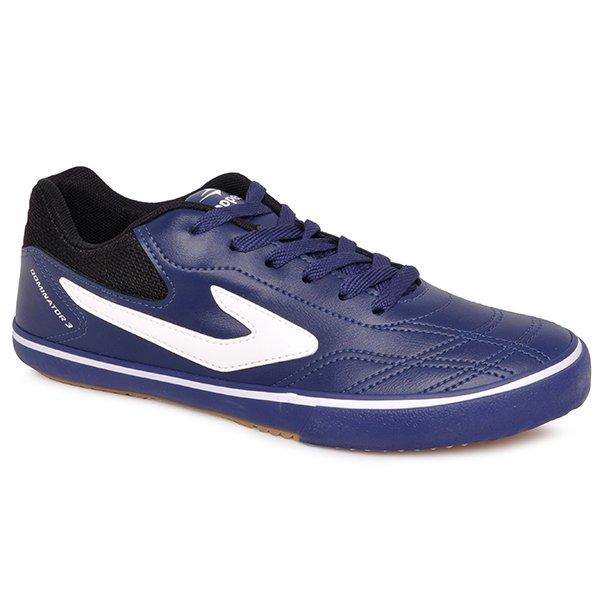 d958c63e2f1 Tênis Futsal Topper Dominator 3 4138546 Azul Marinho Preto Branco