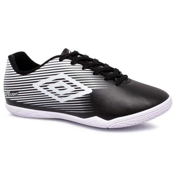2ccd8b75cb Tênis Futsal Umbro F5 Light OF72122 Preto Branco
