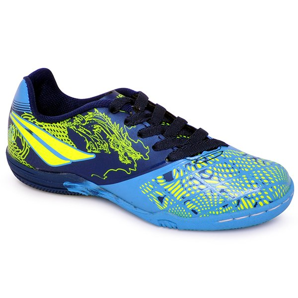 4b67a2fd48d3c Tênis Indoor Infantil Penalty Victoria Dragon Vii Azul Marinho/Azul/Amarelo