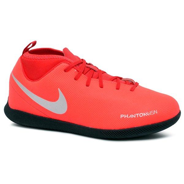cea862bbb5d77 Tênis Futsal Infantil Nike Phantom VSN Club DF AO3293-600 Vermelho Cinza