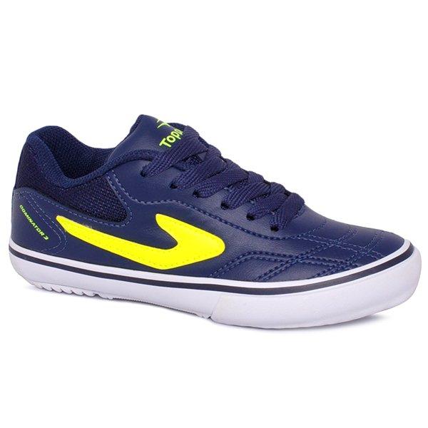 Tênis Indoor Infantil Topper Dominator 3 4138545 Azul Marinho Verde Branco 443b2899e2464