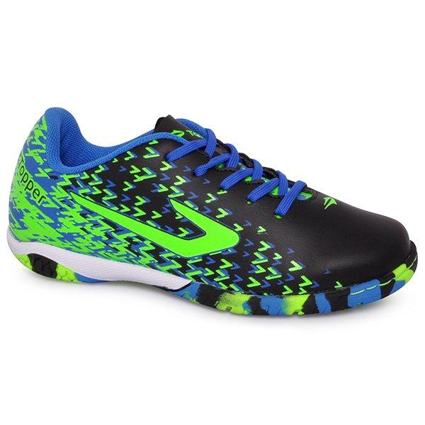 Tênis Indoor Infantil Topper Extreme 4200440 Preto Azul Verde 349ed70c1ce7c