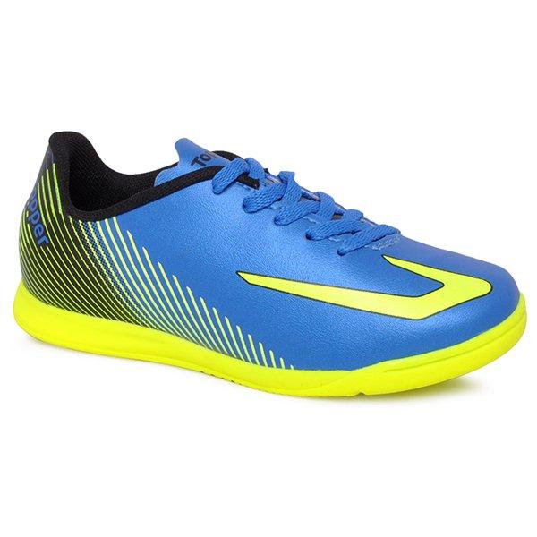 Tênis Indoor Infantil Topper Ultra 420044257 Azul Amarelo Preto d6ddefb715eca