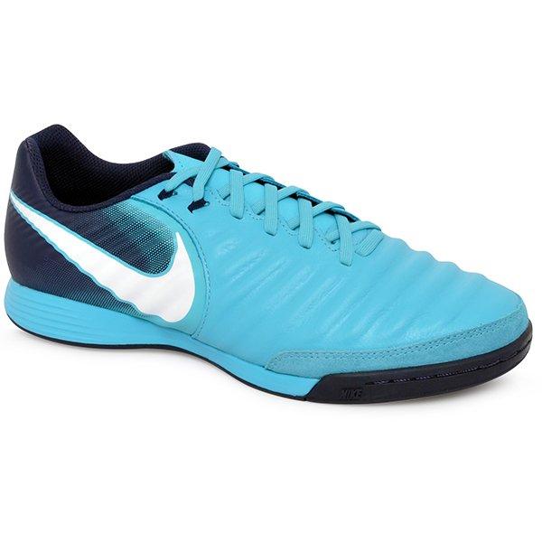 9f9a2f8b02142 Tênis Indoor Nike Tiempox Ligera Iv 897765-414 Azul/Branco