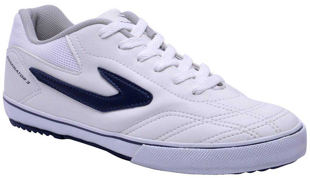 44b0bf8840 Imagem - Tênis Indoor Topper Dominator 3 Branco Azul - 019043400111181