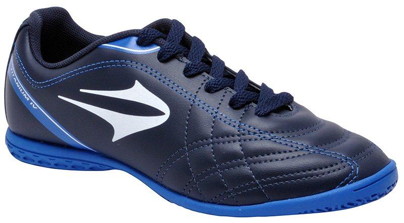 69674b6665727 Tênis Indoor Topper Titanium 4 Azul Marinho/Azul/Branco