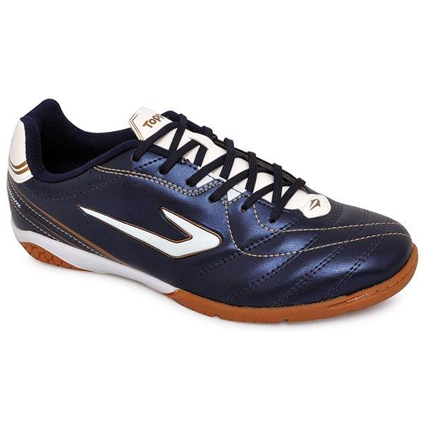Imagem - Tênis Futsal Topper Titanium 6 420040 Azul Marinho Branco Dourado  - 019043400842262 5fac6fc5b059d
