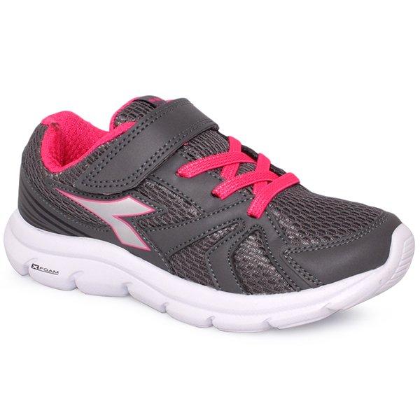 840938c3888 Tênis Infantil Diadora Park 126102 Grafite Rosa Pink