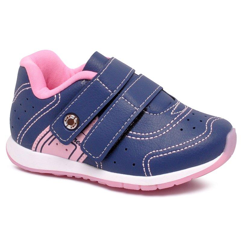 c6d1a4c6031 Tênis Infantil Kidy 096-1144 Azul Marinho Rosa