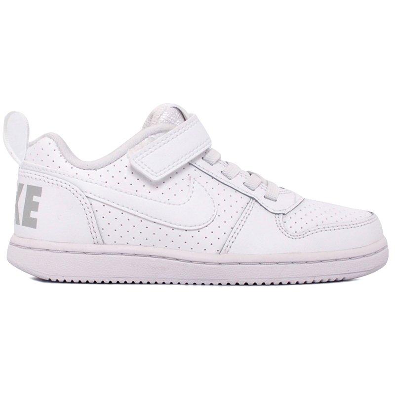 741c2a84973 Tênis Infantil Nike Court Borough Low 870025-100 Branco