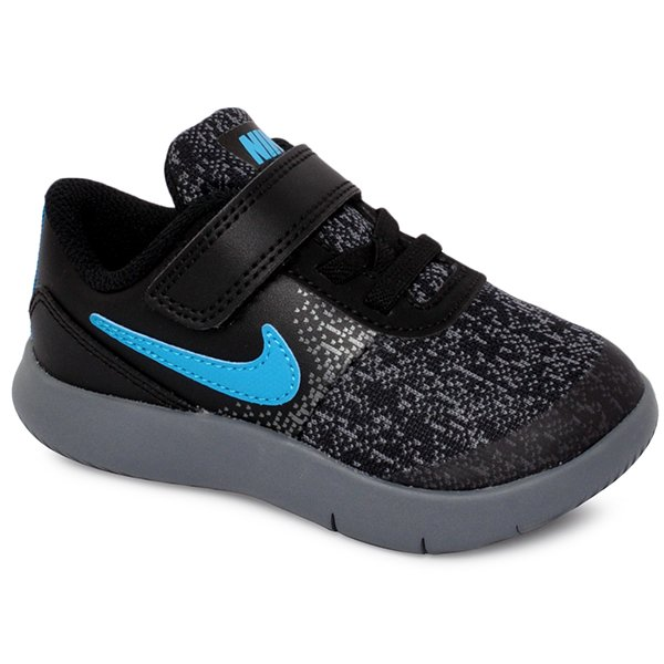 5b1a20a97b9 Tênis Infantil Nike Flex Contact 917935-007 Preto Cinza Azul