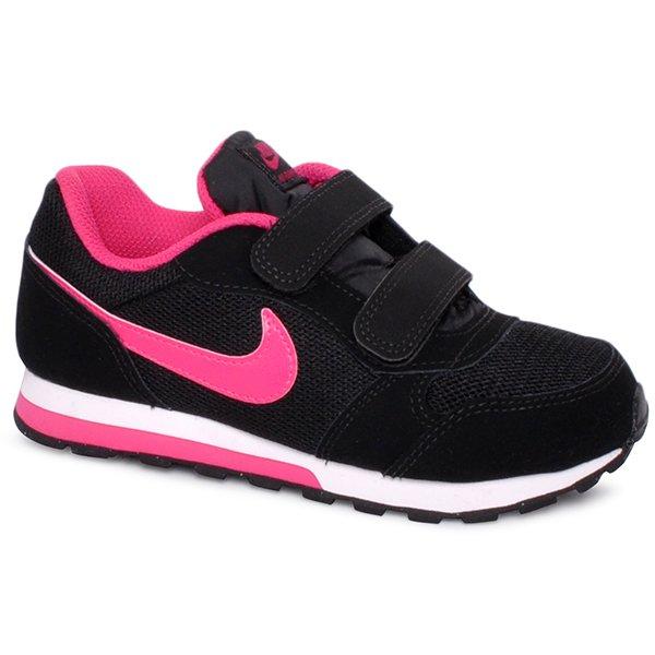 77137a9b276 Tênis Infantil Nike Md Runner 2 807320-006 Preto Rosa