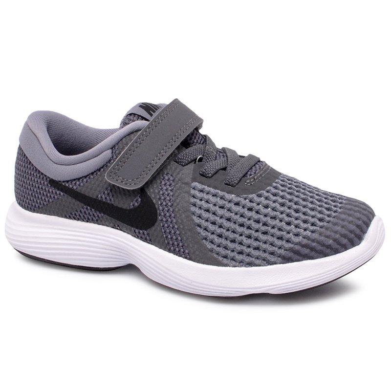 7e891c6a1be Tênis Infantil Nike Revolution 4 943305-005 Cinza Preto