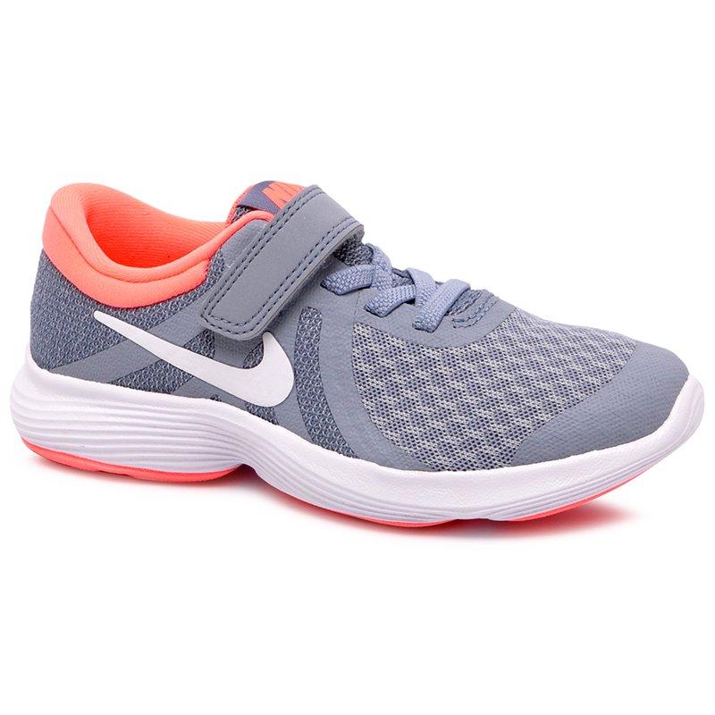 f1080465244 Tênis Infantil Nike Revolution 4 943307-404 Cinza Rosa