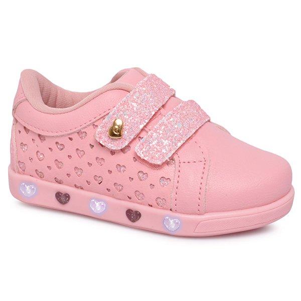 c4e468ebf78 Tênis Infantil Pampili Sneaker com Luz 165070 Rosa