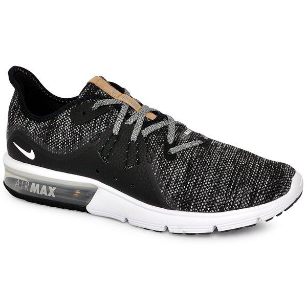 cheap for discount 4043c eb441 Tênis Nike Air Max Sequent 3 921694-011 PretoBrancoCinza