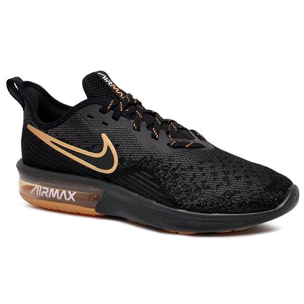 a50a54f3803 Tênis Nike Air Max Sequent 4 AO4485-005 Preto Dourado