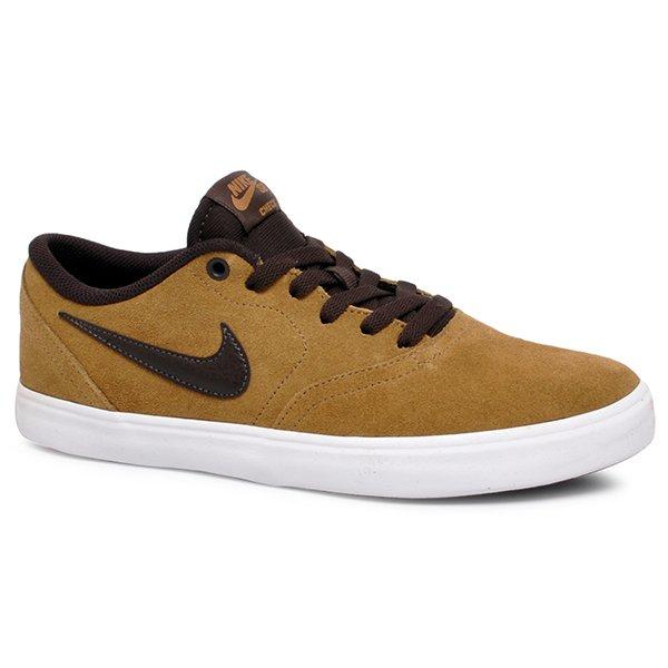 Tênis Nike Sb Check Solar 843895-203 Bege Marrom 63ba136b35b0d