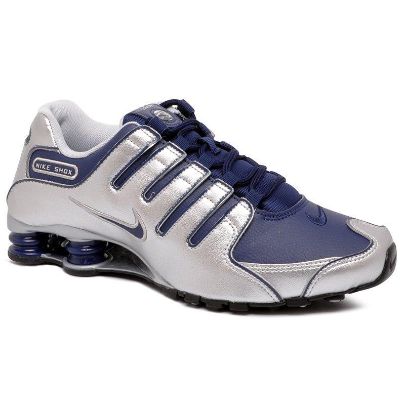 e4bd9748af462 Tênis Nike Shox NZ 378341-402 Prata/Azul
