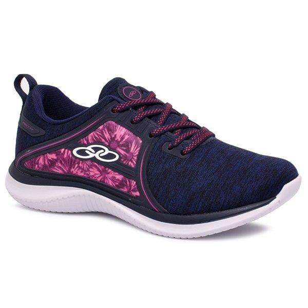 3cf61c0ad2b Tênis Olympikus Pretty 551 Azul Marinho Floral