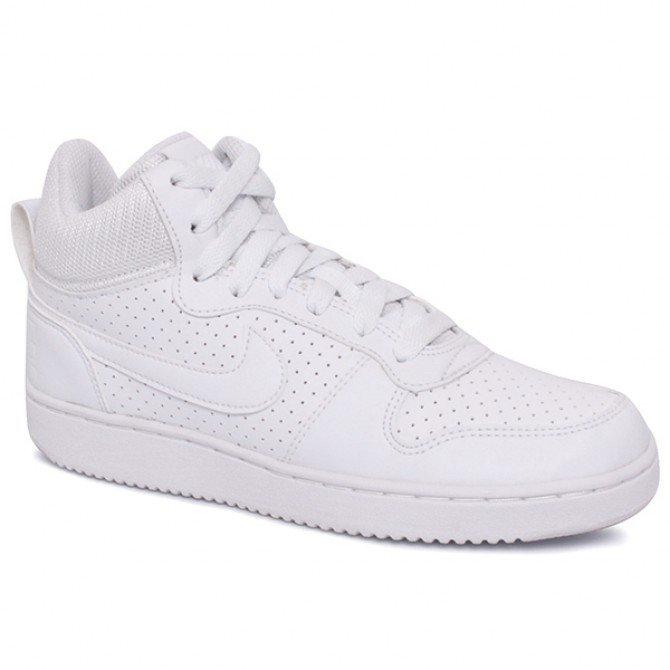 3e7e072d4b4 Tênis Bota Masculina Nike Court Borough Mid 838938-111 Branco 12 ...
