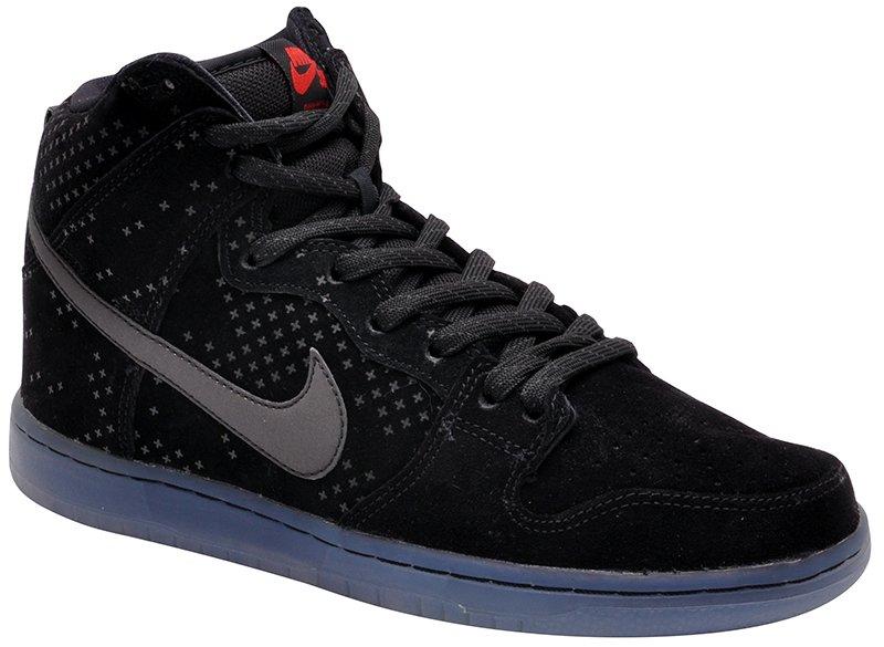 e4d5cb50234 Tênis Bota Masculino Nike Sb Dunk High Prem 806333-001 Black