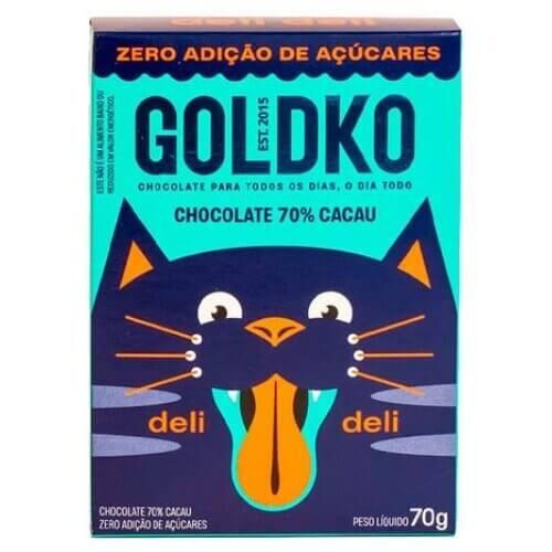 Imagem - CHOCOLATE DELI DELI 70% CACAU GOLDKO 70g