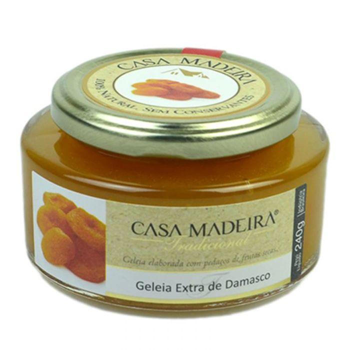 Imagem - GELÉIA TRADICIONAL DAMASCO - CASA MADEIRA - 240g