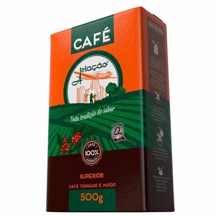 Imagem - CAFE TORRADO E MOIDO SUPERIOR AVIAÇAO 500G