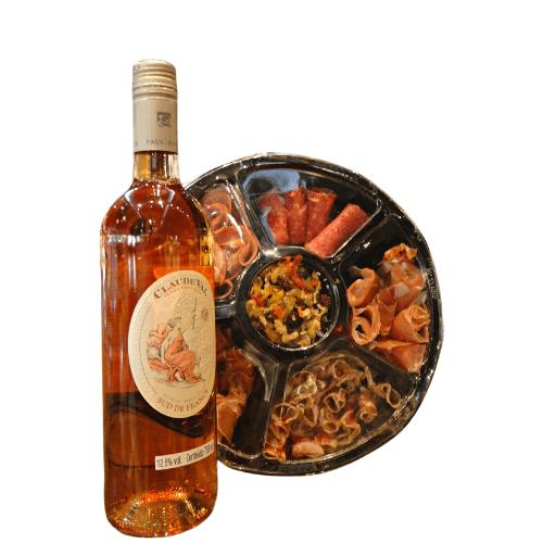 Imagem - KIT DELICIAS DE PRIMAVERA FRIOS E PASTA (Vinho Claude val rosé 750ml)