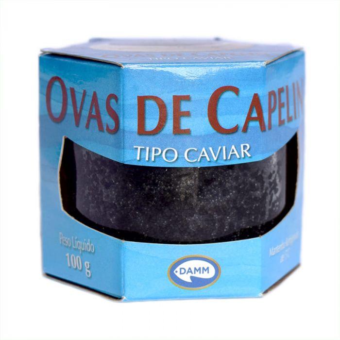 Imagem - OVAS DE CAPELIN PRETA - TIPO CAVIAR